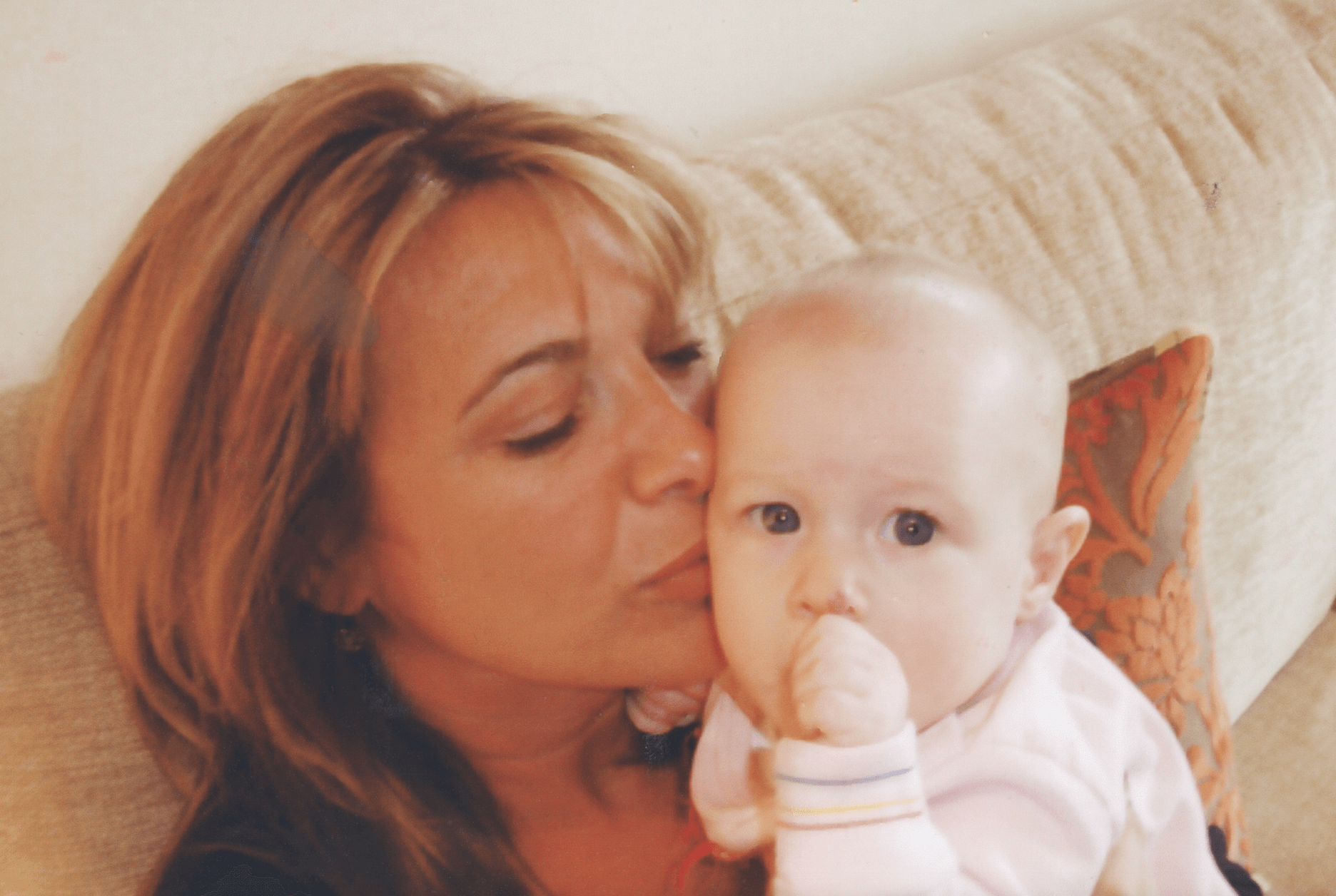 Claire with a child
