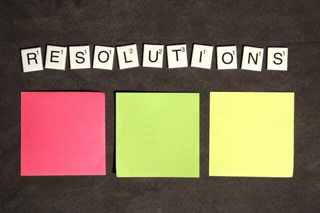 New Year Resolutions Board